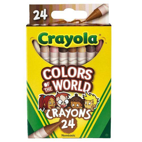 Crayola繪兒樂 Colors Of The World 24CT 蠟筆