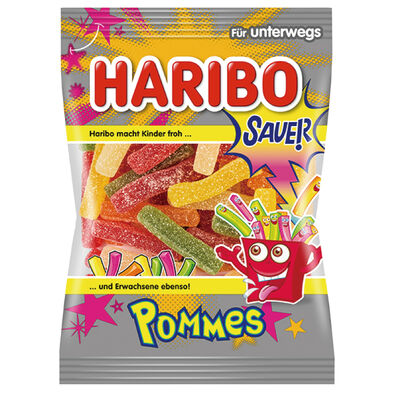 Haribo 哈瑞寶爆酸水果條風味Q軟糖100g