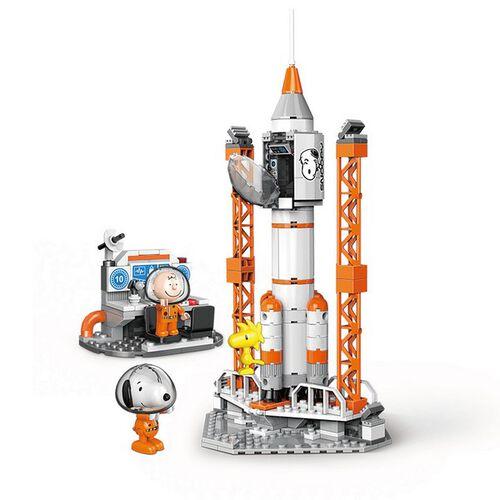 Banbao邦寶史努比70周年太空系列火箭發射站 LN8013