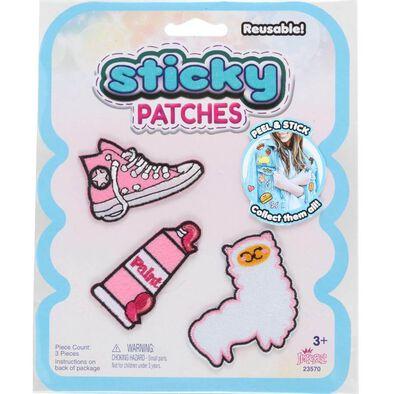 Sticky Patches黏黏補丁 DIY粉紅紡織布貼