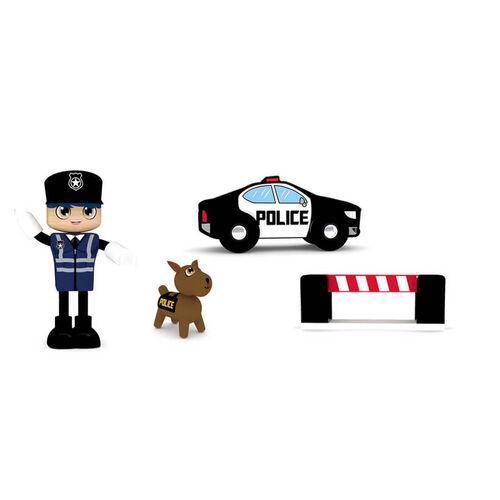 J'adore 警車木玩禮盒組