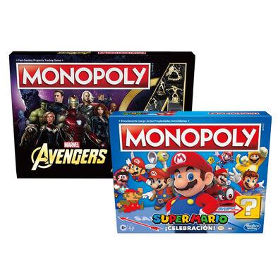 Monopoly地產大亨 歡慶超級瑪利歐紀念版及復仇者聯盟46折超值組