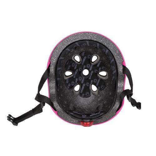 Globber高樂寶 粉色帶燈滑板車頭盔