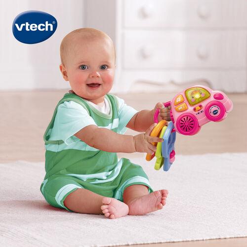 Vtech聲光鑰匙小車-粉