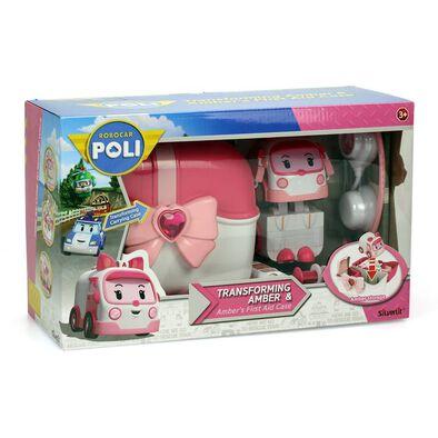 Robocar Poli波力救援小英雄 Led變形手提基地系列-安寶