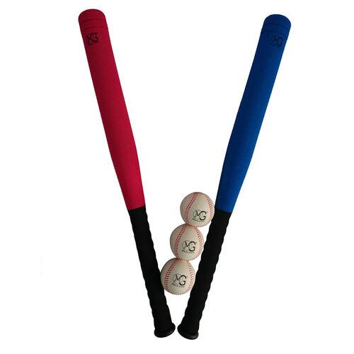 Macro Giant名將 27吋pu球棒&棒球套組(含3球)