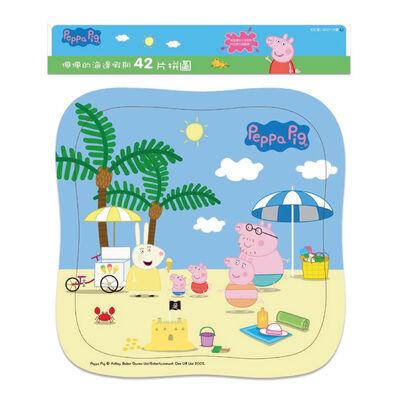 Peppa Pig粉紅豬小妹 佩佩的海邊假期(42片拼圖)