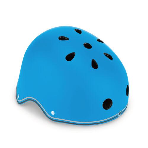 Globber高樂寶 藍色帶燈滑板車頭盔