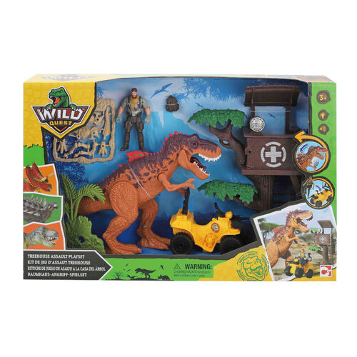 Wild Quest Dino樹屋場景組