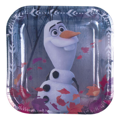 Disney Frozen迪士尼冰雪奇緣派對用品 Party Time 小紙盤8入