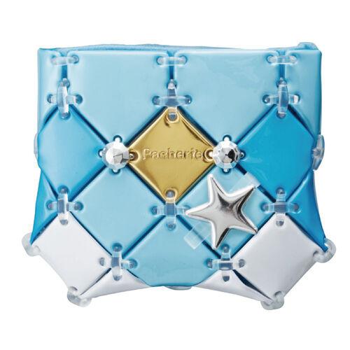 Pacherie時尚巧拼包 氣質小物收納包(水藍)