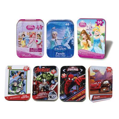 Disney迪士尼 迷你鐵盒拼圖- 隨機發貨