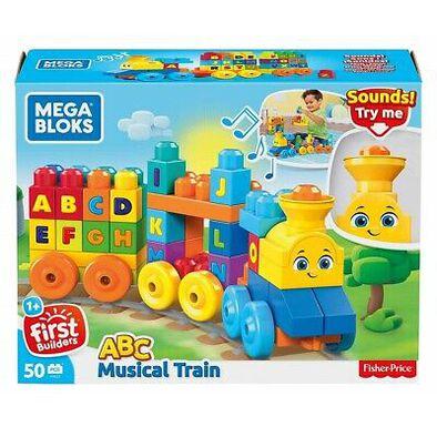 Mega Bloks美高積木First Builders系列音樂字母學習火車