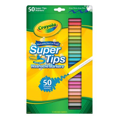 Crayola繪兒樂 50色細頭兒童可水洗記號筆