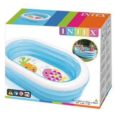 Intex 橢型鯨魚有趣泳池(163*107*46)