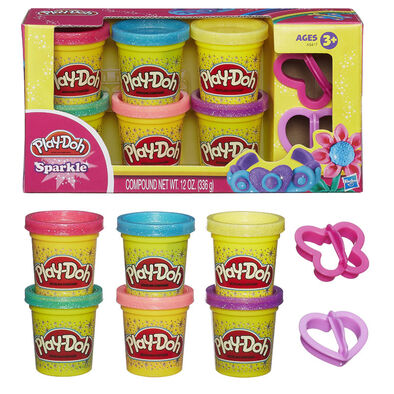 Play-Doh培樂多 閃亮黏土六色黏土組