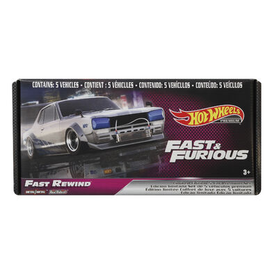 Hot Wheels風火輪Fast & Furious合金車精裝5入組