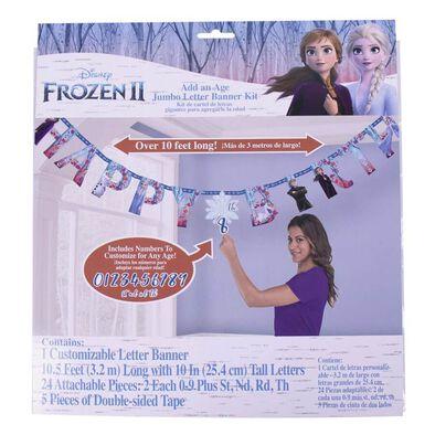 Disney Frozen迪士尼冰雪奇緣派對用品 Party Time生日串旗
