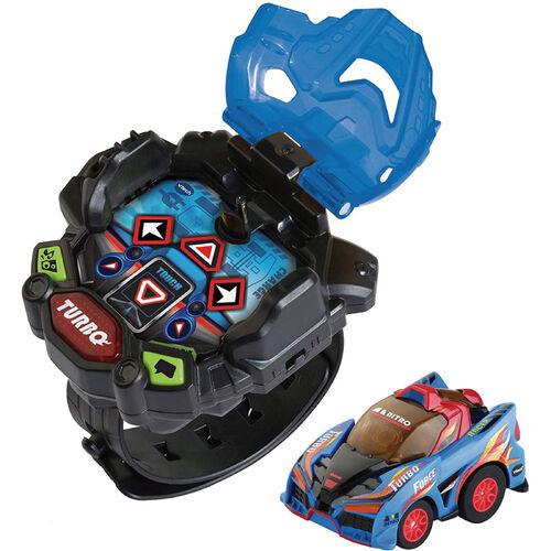 Vtech觸碰式酷炫遙控賽車手錶-藍