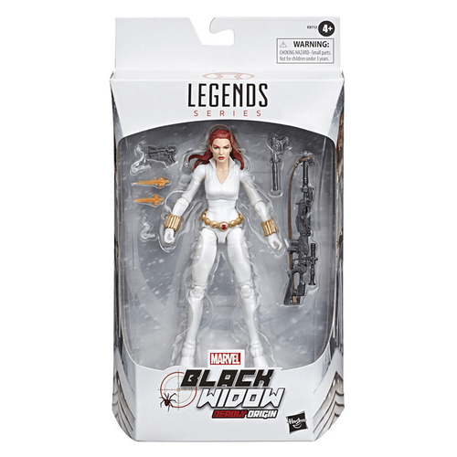 Marvel漫威6吋傳奇人物-黑寡婦Black Widow北極白裝