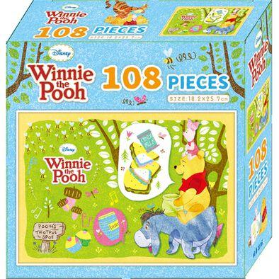 Disney 迪士尼小熊維尼108片盒裝拼圖(A)