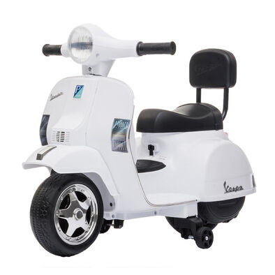 LUNG TZUAN Vespa PX150 迷你偉士牌兒童電動機車 白