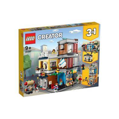 LEGO樂高創意系列 31097 寵物店和咖啡廳排樓 積木 玩具