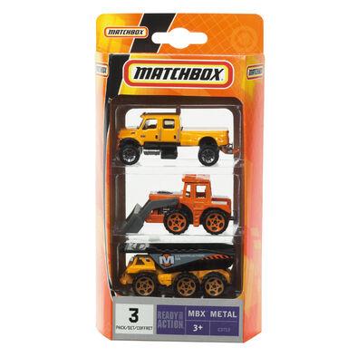 Matchbox火柴盒小汽車 3入組 - 隨機發貨