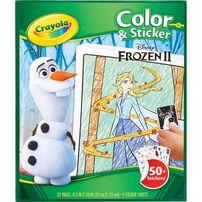 Crayola繪兒樂Disney Frozen迪士尼冰雪奇緣貼紙著色本