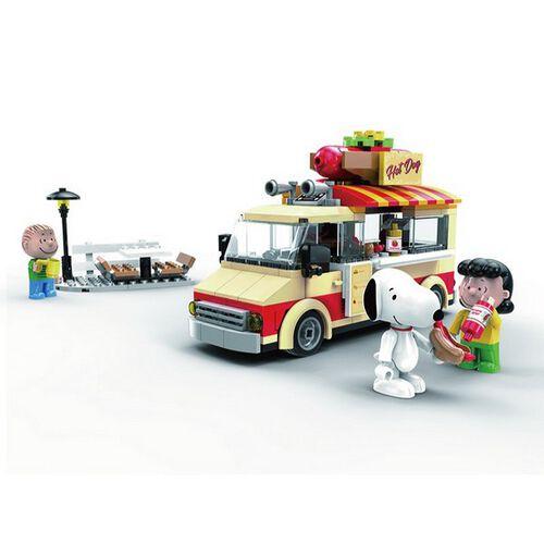Banbao邦寶 史努比歡樂廣場系列 LN8009美式餐車
