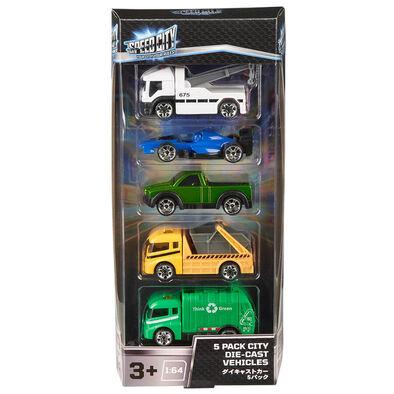 Speed City 極速城市 5入裝合金車