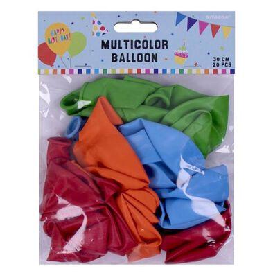 Amscan 彩色氣球20入