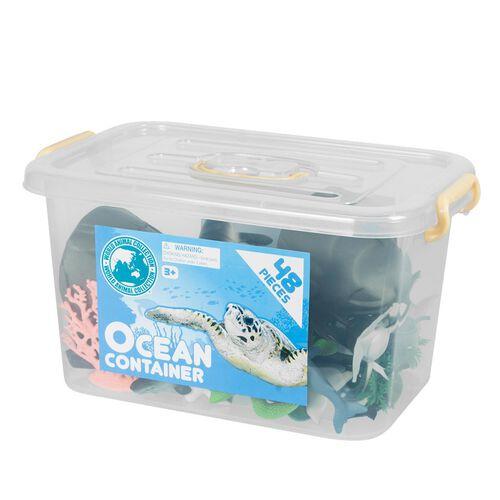 World Animal Collection 48件海洋模型配件桶
