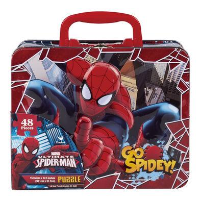 Spider-Man蜘蛛人 手提鐵盒拼圖