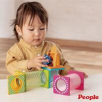 People益智磁性積木BASIC系列-滾球滑道組