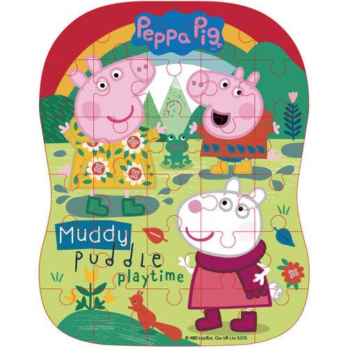 Peppa Pig粉紅豬小妹 造型拼圖盒(鐵盒裝)