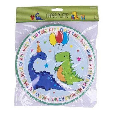 Amscan 恐龍主題紙盤6入