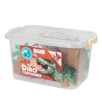 48件恐龍模型配件桶