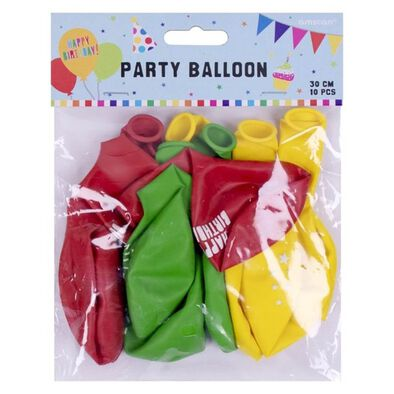 Amscan 生日主題氣球10入