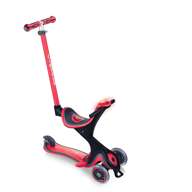 Globber高樂寶 Evo Comfort Play 多功能三輪滑板車 (紅色)