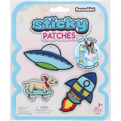 Sticky Patches黏黏補丁 DIY太空紡織布貼