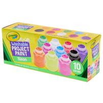 Crayola繪兒樂 10色霓虹可水洗油漆