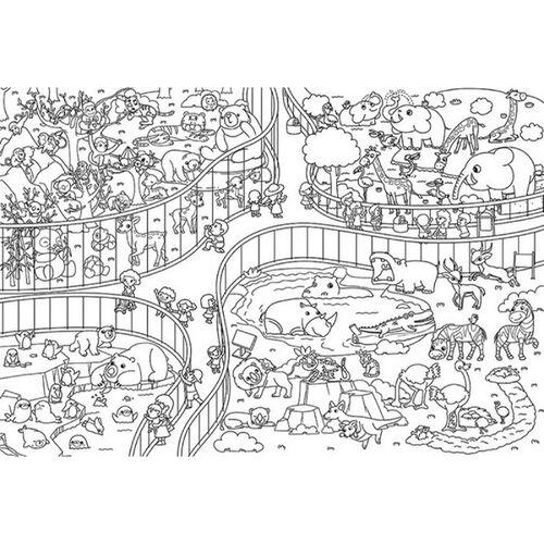 Human Culture人類文化 創意塗色畫 (動物園/農場動物/海洋生物)