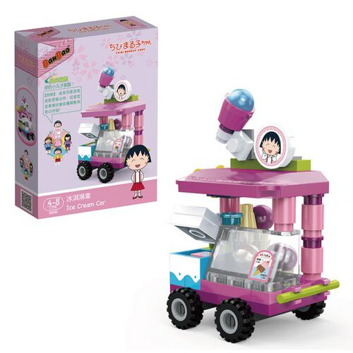 Banbao邦寶 櫻桃小丸子積木系列-冰淇淋