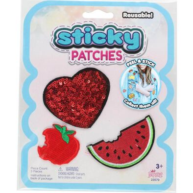 Sticky Patches黏黏補丁 DIY水果紡織布貼
