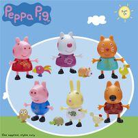 Peppa Pig粉紅豬小妹Peppa Pig 好朋友與寵物組 - 隨機發貨