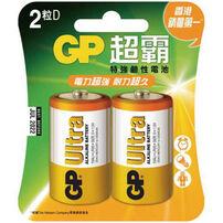 Gp超霸 特強鹼性電池 1號 2入