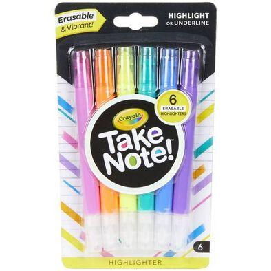 Crayola繪兒樂6入可擦拭螢光筆