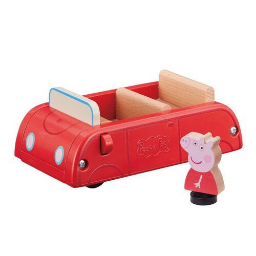 Peppa Pig粉紅豬小妹-(木製)小紅車