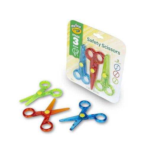 Crayola繪兒樂 3入幼童學習剪刀